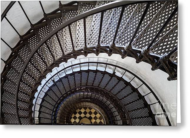 St. Augustine Lighthouse Staircase St. Augustine Florida Greeting Card by Dawna  Moore Photography