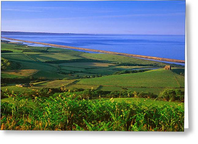Catherine Greeting Cards - St Catherines Chapel And Abbotsbury Greeting Card by Panoramic Images