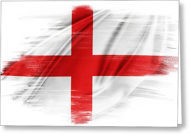 St George Greeting Cards - St Georges Cross Greeting Card by Les Cunliffe
