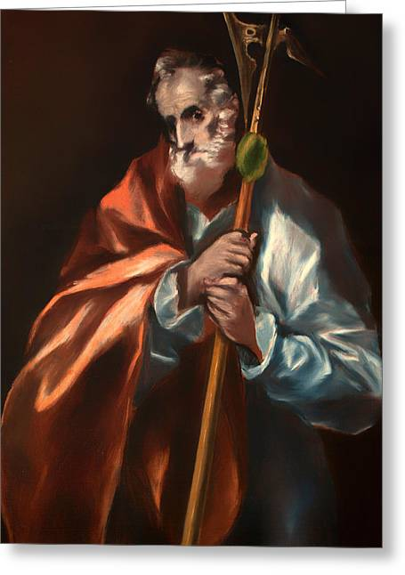 Saint Jude Greeting Cards - St Jude Thaddeus Greeting Card by El Greco