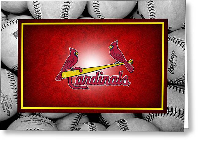 St Louis Cardinals Greeting Card by Joe Hamilton