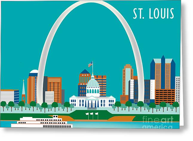 Gateway Arch Greeting Cards - St. Louis Greeting Card by Karen Young