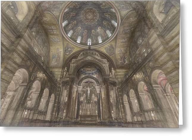Gateway Church Greeting Cards - St. Louis Missouri Cathedral Basilica Greeting Card by David Haskett