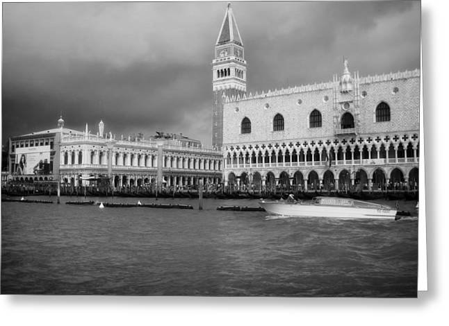 Beauty Mark Greeting Cards - St Marks Square - Venice Greeting Card by Mountain Dreams