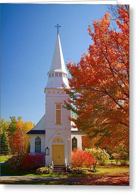 Folgers Greeting Cards - St Matthews in Autumn splendor Greeting Card by Jeff Folger