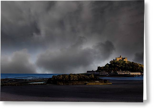 Low Light Greeting Cards - St Michaels Mount Greeting Card by Martin Newman
