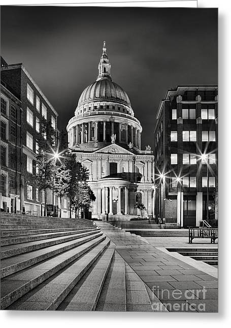 St Paul Greeting Cards - St Pauls London Greeting Card by Rod McLean