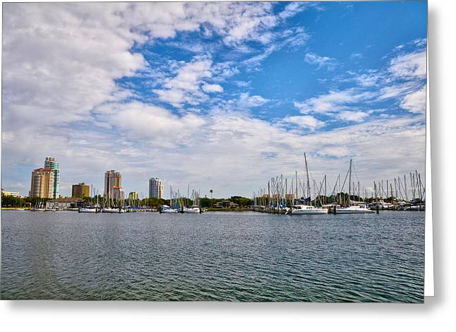 St Petersburg Florida Greeting Cards - St Petersburg Marina Greeting Card by Bill Cannon