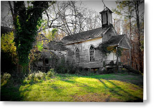 White Greeting Cards - St Simon Church Peak SC Greeting Card by Lisa Wooten