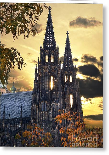 View Pyrography Greeting Cards - St Vitus Church in Hradcany Prague Greeting Card by Jelena Jovanovic