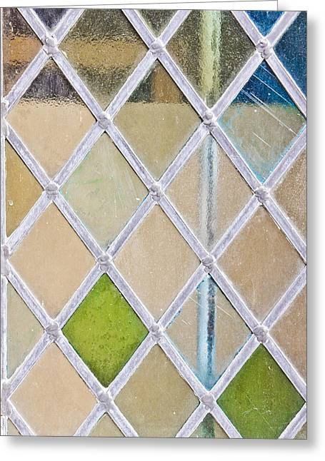Ornate Pattern Greeting Cards - Stained glass window Greeting Card by Tom Gowanlock