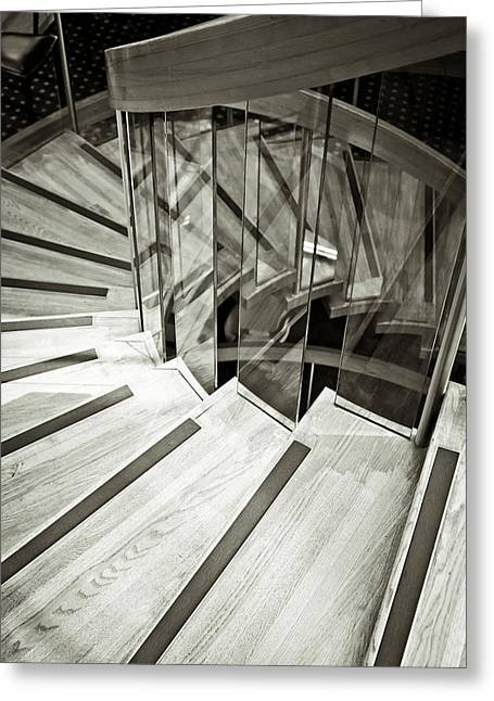 Gradations Greeting Cards - Staircase Greeting Card by Tom Gowanlock