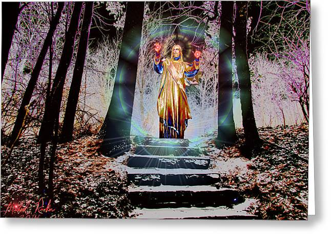 Rucker Greeting Cards - Stairway to Heaven Greeting Card by Michael Rucker