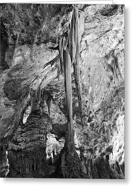 Cavern Greeting Cards - Stalactites and Stalagmites Greeting Card by Melany Sarafis