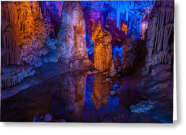 Judea Greeting Cards - Stalactites at Avshalom Cave Israel Greeting Card by Meir  Jacob