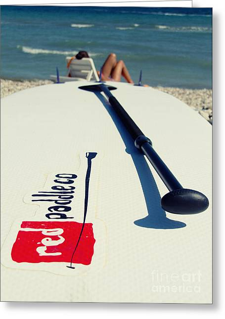 Action Sports Portrait Greeting Cards - Stand Up Paddle Boards Greeting Card by Stylianos Kleanthous