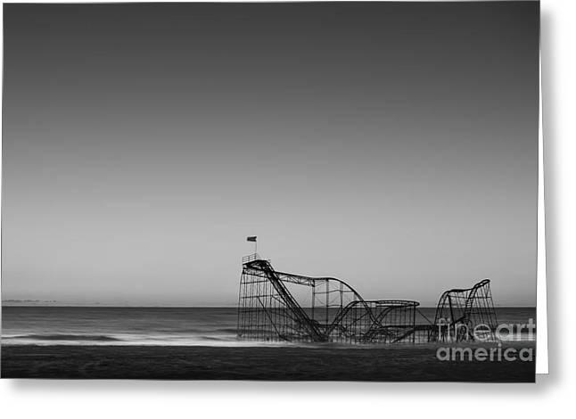 Jet Star Roller Coaster Greeting Cards - Star Jet Roller Coaster HDR Greeting Card by Michael Ver Sprill