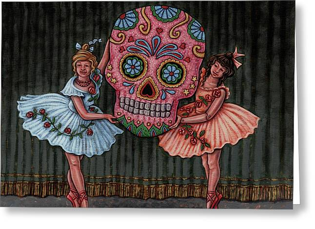 Dance Ballet Roses Paintings Greeting Cards - Star of the Show Greeting Card by Holly Wood