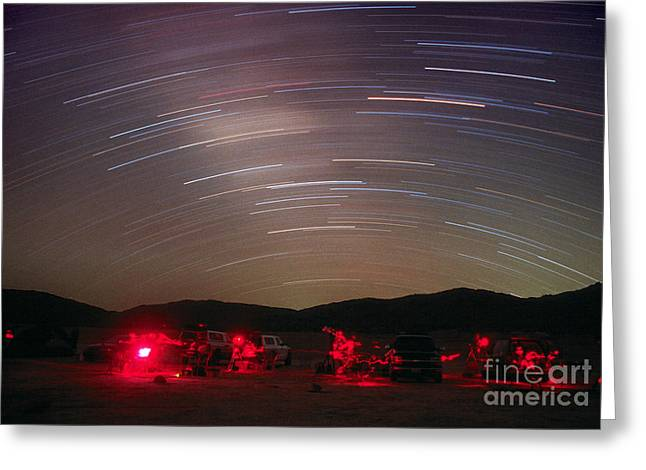 Amateur Greeting Cards - Star Trails Greeting Card by Chris Cook
