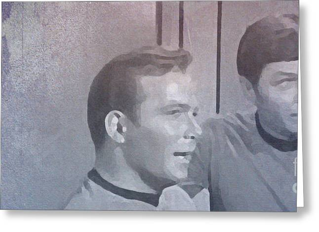 Recently Sold -  - Enterprise Mixed Media Greeting Cards - Star Trek Kirk and McCoy Greeting Card by Pablo Franchi