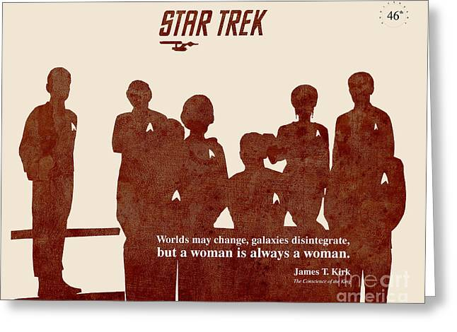 Mccoy Greeting Cards - Star Trek Original - Captain Kirk Quote Greeting Card by Pablo Franchi