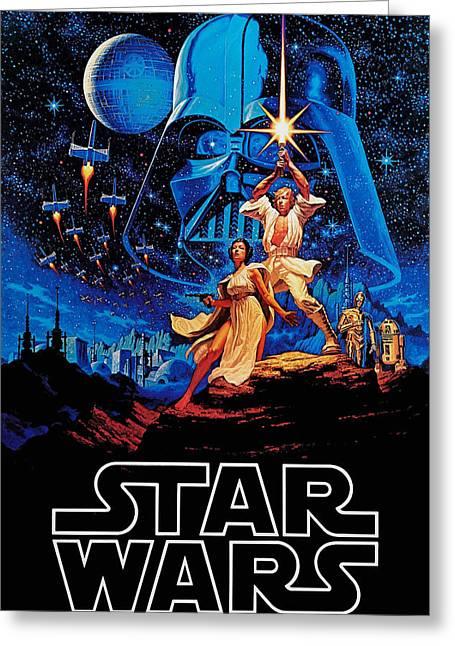 Star Wars Greeting Card by Farhad Tamim