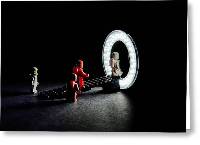 Lego Greeting Cards - Stargate Greeting Card by Mark Fuller
