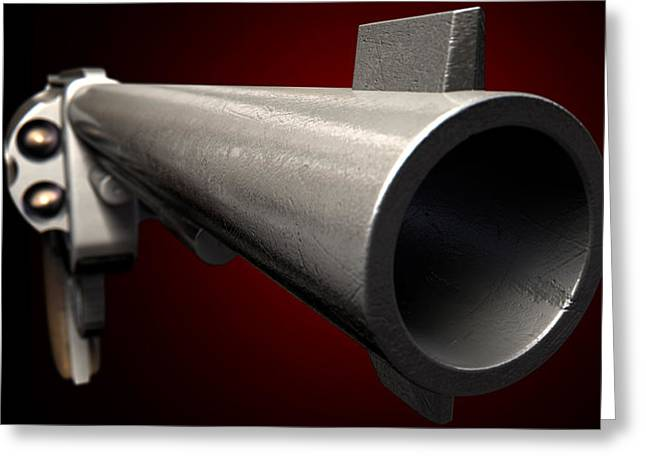 Related Greeting Cards - Staring Down The Barrel Of A Gun Greeting Card by Allan Swart