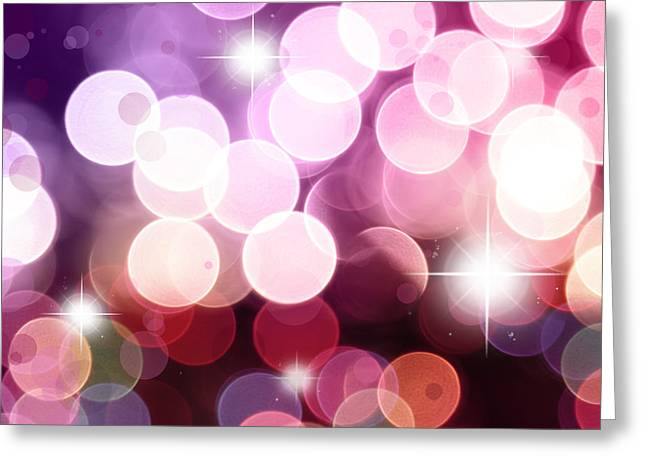 Pink Digital Greeting Cards - Starry background Greeting Card by Les Cunliffe