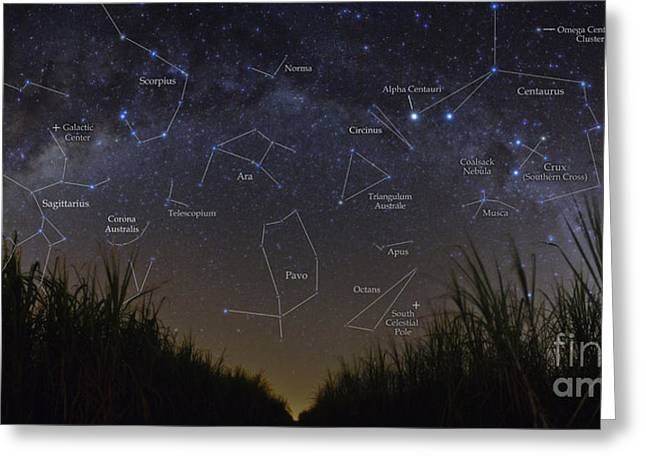 Constellations Greeting Cards - Starry Night Of Brazil Greeting Card by Babak Tafreshi