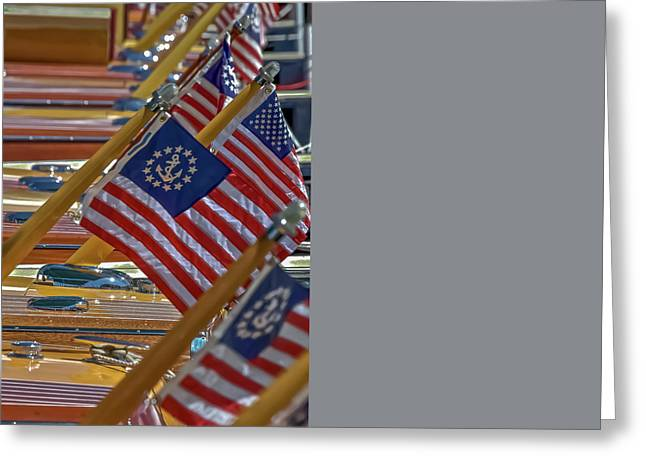 Stars And Stripes Greeting Card by Steven Lapkin