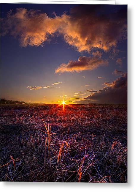 Geographic Greeting Cards - Starting Over Greeting Card by Phil Koch