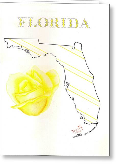 State Of Florida Greeting Card by Dusty Reed