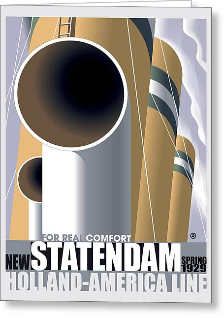 Vector Posters Greeting Cards - Statendam Greeting Card by Gary Grayson