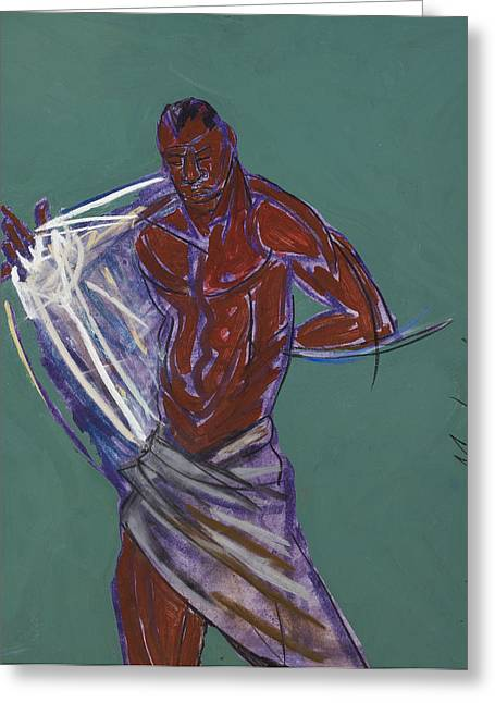 African-american Mixed Media Greeting Cards - States of Undress Greeting Card by Deryl Daniel Mackie
