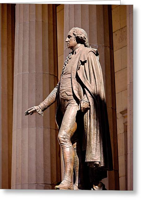 Statue Of George Washington At The Site Greeting Card by Brian Jannsen