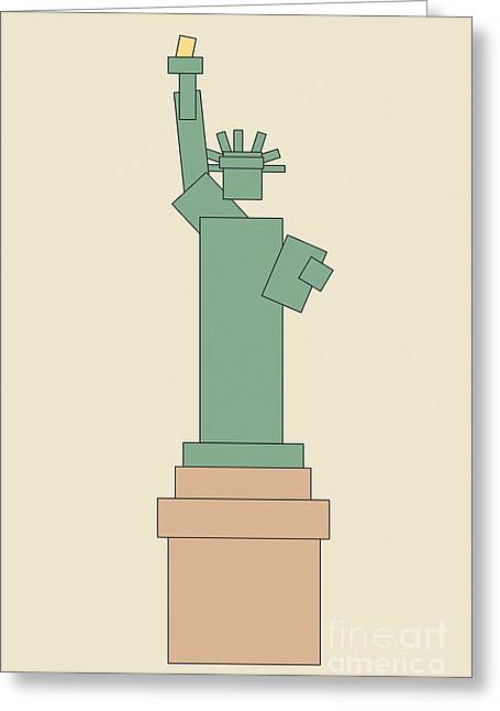 Statue Of Liberty Greeting Card by Igor Kislev