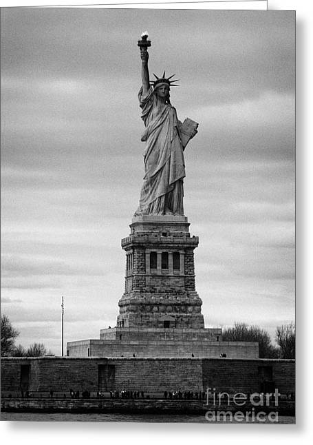 American Independance Photographs Greeting Cards - Statue of Liberty liberty island new york city Greeting Card by Joe Fox