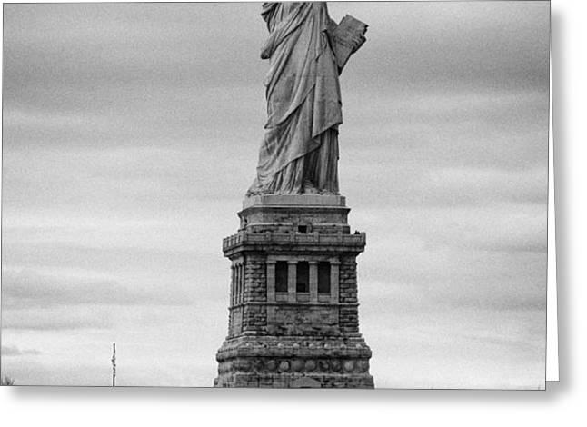 Statue of Liberty liberty island new york city Greeting Card by Joe Fox