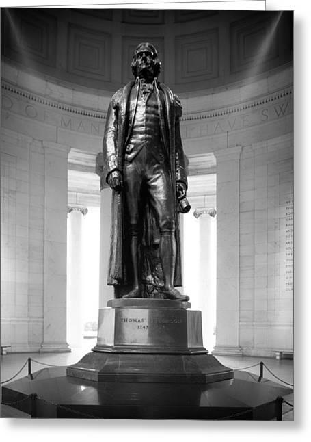 Jefferson Greeting Cards - Statue of Thomas Jefferson - Jefferson Memorial Greeting Card by Mountain Dreams