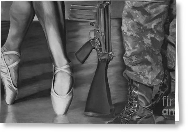 Military Pastels Greeting Cards - Steadfast Greeting Card by Breanna Moran