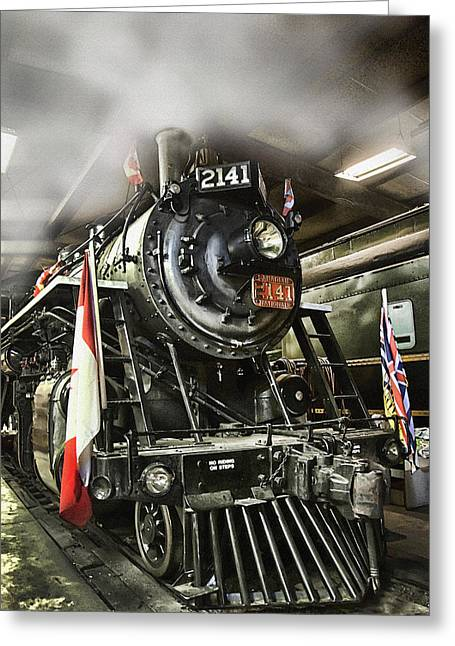 Kingston Photographs Greeting Cards - Steam Locomotive 2141 Greeting Card by Theresa Tahara