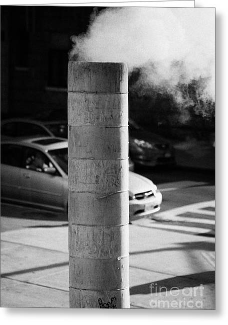 Manhaten Greeting Cards - Steam Pipe Vent Stack New York City Greeting Card by Joe Fox
