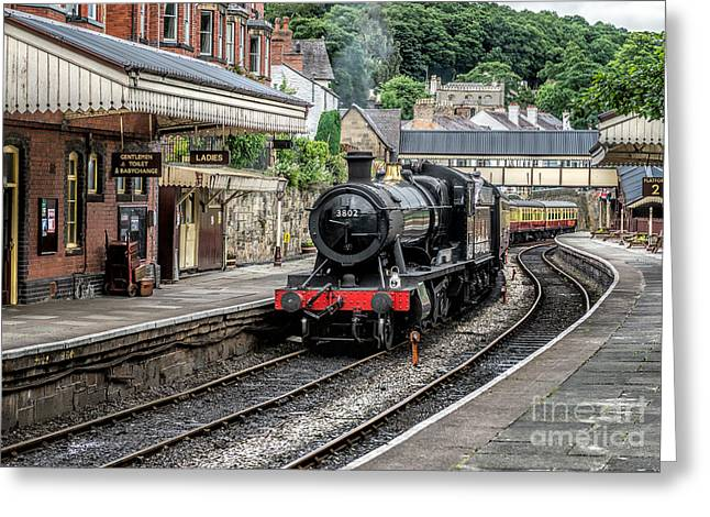 2 Seat Greeting Cards - Steam Train Greeting Card by Adrian Evans