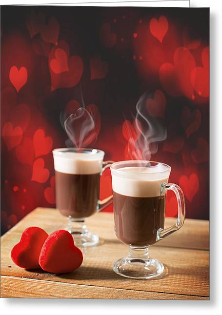 Steaming Greeting Cards - Steaming Hot Chocolates Greeting Card by Amanda And Christopher Elwell