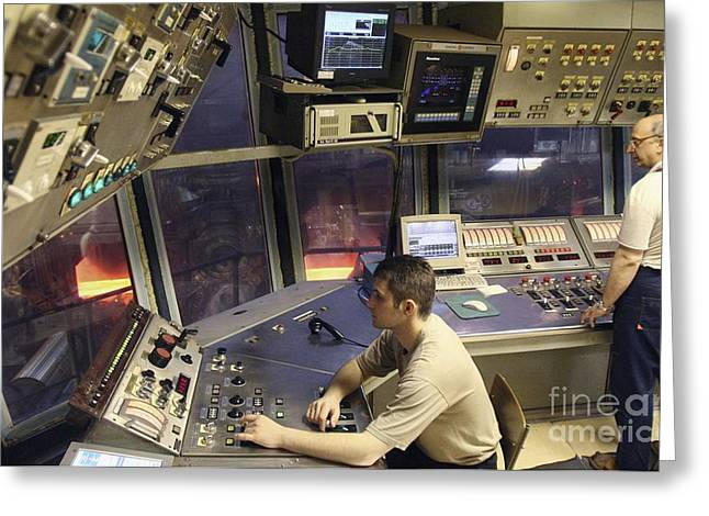 Metalworker Greeting Cards - Steel Production Control Room Greeting Card by RIA Novosti