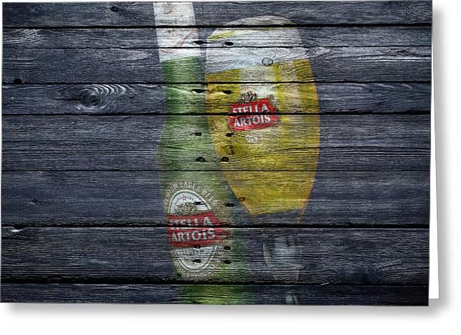 Saloons Greeting Cards - Stella Artois Greeting Card by Joe Hamilton