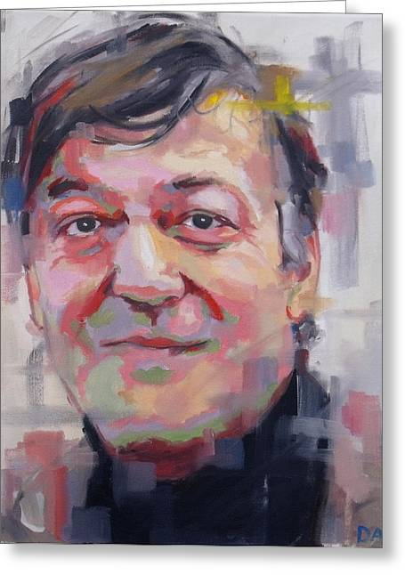 Comedian Greeting Cards - Stephen Fry  Greeting Card by Richard Day