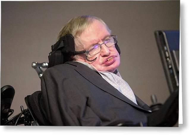 Stephen Hawking Greeting Card by Mark Thomas