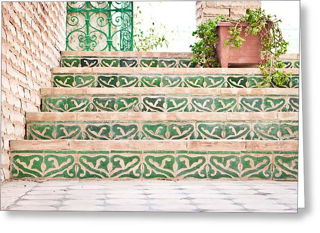 Tiling Greeting Cards - Steps Greeting Card by Tom Gowanlock